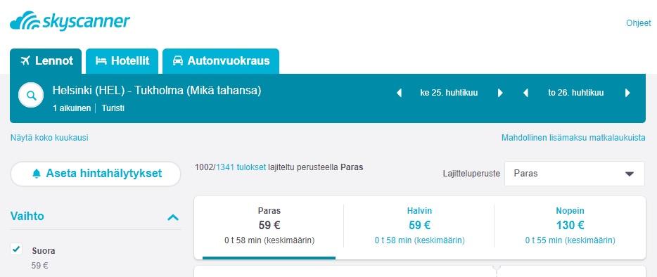 aseta hintahälytys